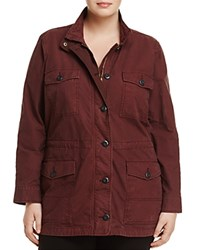 Lucky Brand Plus Drawstring Waist Utility Jacket Fig