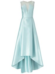 Adrianna Papell Lace And Mikado Ballgown Aqua Glass