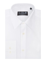 New And Lingwood Grantham Royal Oxford Double Cuff Shirt White