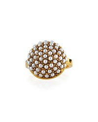 Lulu Frost Empire Ring W Glass Pearls Gold