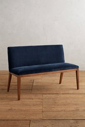 Anthropologie Velvet Emrys Bench Blue