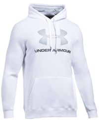 Under Armour Men's Rival Fleece Logo Hoodie White