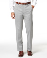 Alfani Red Men's Traveler Light Grey Solid Slim Fit Pants Only At Macy's