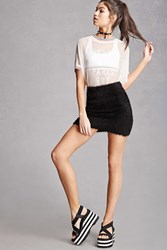 Forever 21 Rocket Dog Striped Wedges Black White