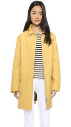 Hunter Rubber Coat With Eyelet Trim Hay