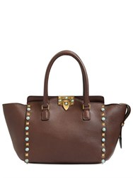 Valentino Rockstud Embossed Leather Top Handle