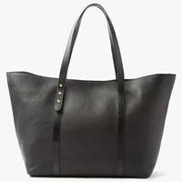 John Lewis Rhea Leather Tote Bag Black