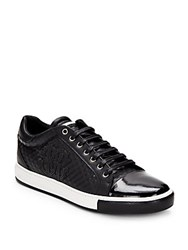 Roberto Cavalli Leather Lace Up Sneaker Black