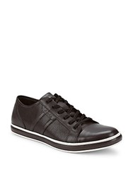 Kenneth Cole Reaction Leather Low Top Sneakers Grey