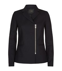 Maje Victor Tailored Zip Jacket Female Black