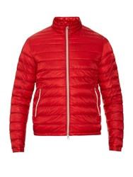 Moncler Daniel Down Filled Quilted Jacket Red