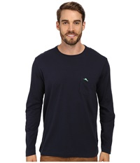 Tommy Bahama Bali Sky L S Tee Blue Note Men's Long Sleeve Pullover Navy