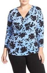 Plus Size Women's Ellen Tracy Faux Wrap Top