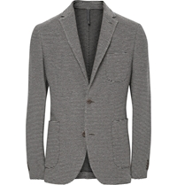 Incotex Montedoro Giacco Slim Fit Unstructured Knitted Cotton Blazer Brown
