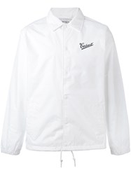 Carhartt Logo Embroidered Jacket Men Nylon Polyester L White