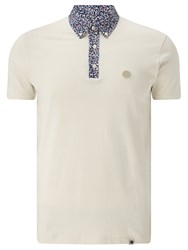 Pretty Green Reilly Print Polo Shirt Cream