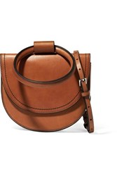 Theory Whitney Leather Shoulder Bag Tan