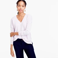 J.Crew V Neck Sweater In Cotton Merino Wool