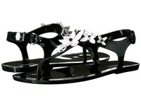 Michael Michael Kors Lola Jelly Thong Black Optic White Pvc Women's Sandals