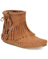 Zigi Rock And Candy Martha Fringe Moccassin Booties Women's Shoes