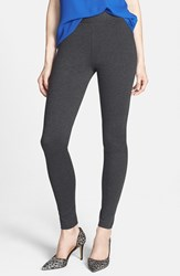 Petite Women's Two By Vince Camuto Seamed Back Leggings Dark Heather Grey