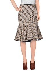 Daks London 3 4 Length Skirts Khaki