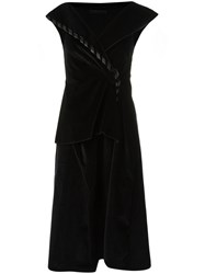 Uma Raquel Davidowicz Midi Dress Black