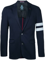 Guild Prime Striped Sleeve Blazer Men Cotton 2 Blue