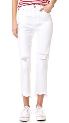 Ag Jeans The Phoebe High Waisted Tapered 5 Years White Frayed