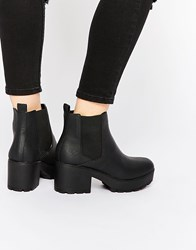 Asos Rook Chunky Chelsea Ankle Boots Black
