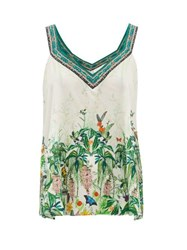 Camilla Daintree Dreaming Forest Print Silk Camisole White Print