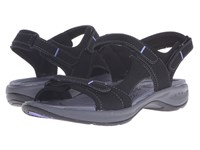 Easy Spirit Egnita 3 Black Black Synthetic Women's Sandals