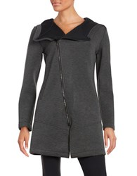 Betsey Johnson Asymmetrical Scuba Jacket Black