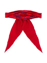 Ann Demeulemeester Bow Hair Tie Red
