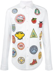 Love Moschino Multi Patches And Prints Shirt White