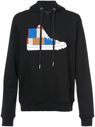 Mostly Heard Rarely Seen Patchwork Sneaker Hoodie Cotton S Black