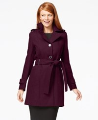 Calvin Klein Three Button Belted Wool Trench Coat
