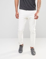 Weekday Sunday Drop Crotch Tapered Jeans In Off White Ecru White