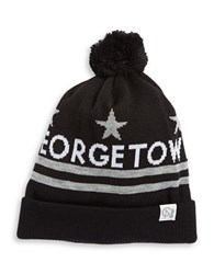 Tuck Shop Co. Georgetown Pom Pom Knit Beanie Black