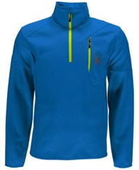 Spyder Outlaw Half Zip Fleece Top Blue