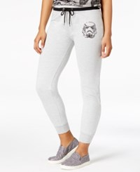 Star Wars Juniors' Storm Trooper Graphic Sweatpants Heather Grey