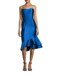 Sachin Babi Cleo Strapless Dress Imperial Blue