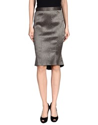 Zac Zac Posen Knee Length Skirts Dove Grey