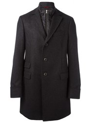 Fay Single Breasted Classic Coat Black