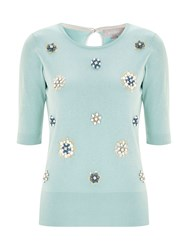 Havren Beaded Front Jumper Blue