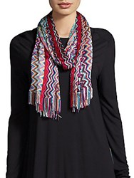 Missoni Chevron Scarf Red