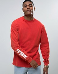 10.Deep 10 Deep Long Sleeve T Shirt With Sleeve Print Red
