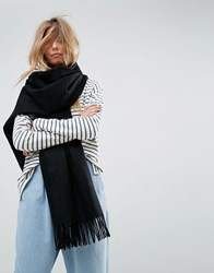 Asos Long Oversized Lambswool Scarf Black