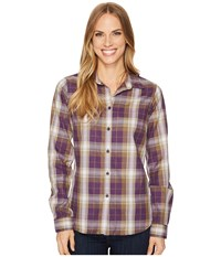 Fjall Raven Fjallraven Ovik Flannel Shirt Alpine Purple Long Sleeve Button Up