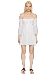 Charo Ruiz Off The Shoulder Voile And Lace Dress